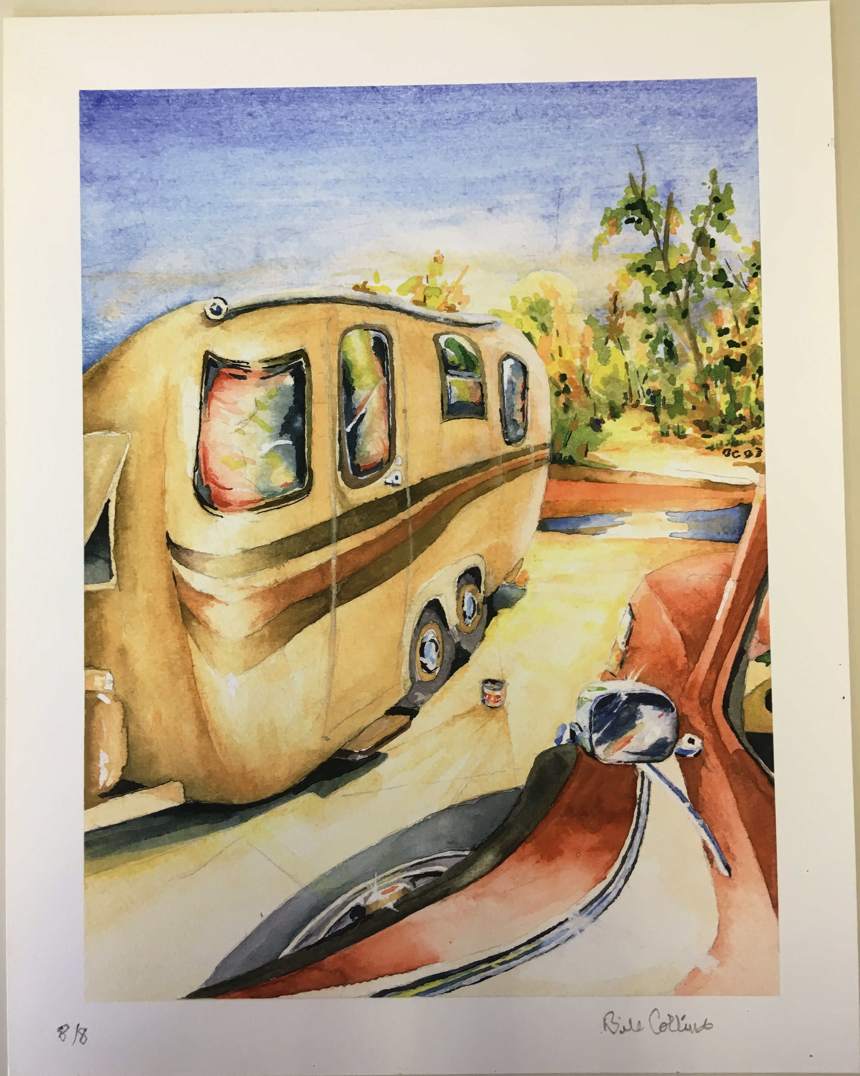 Watercolor Print by Bill Collins, Retail $100