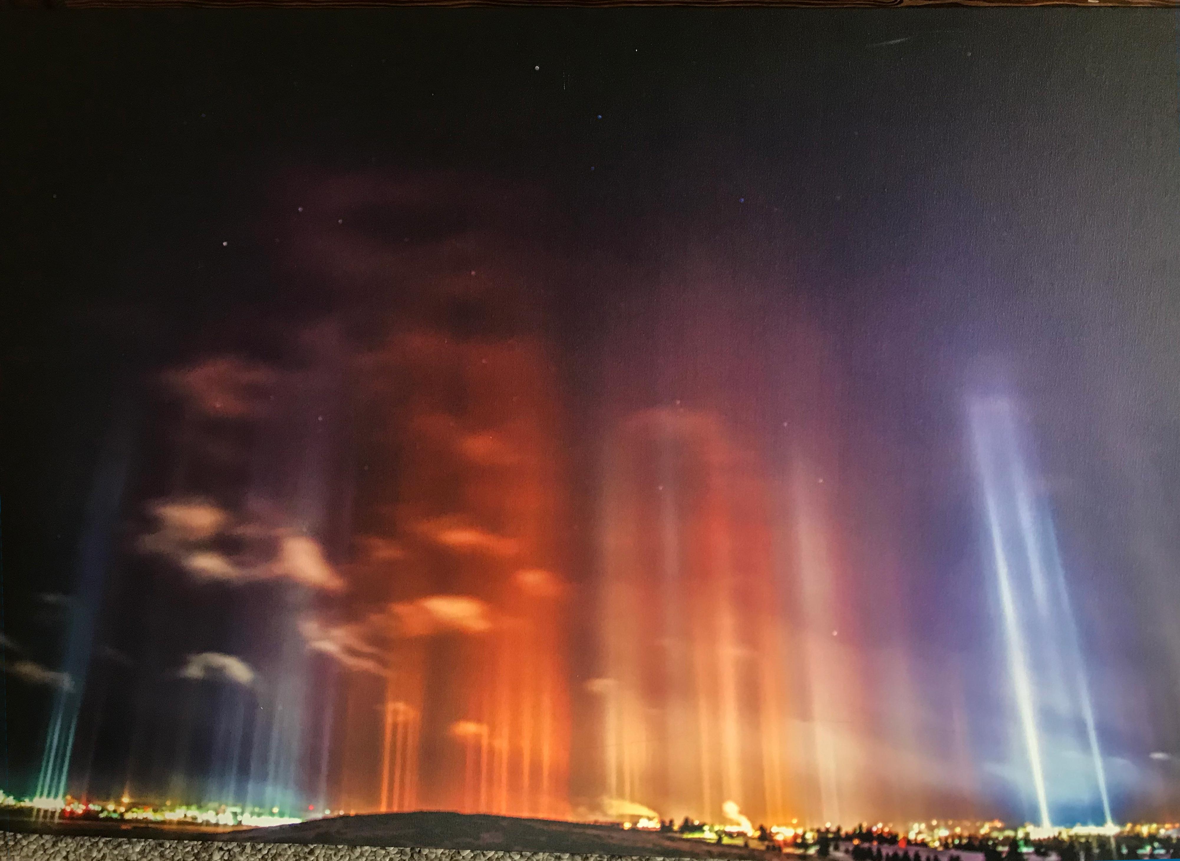 Light Pillars Over Laramie - Robert Kirkwood